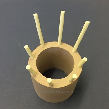 "Pyrophyllite Ceramic Tube and 99.8 Alumina ""Fingers"